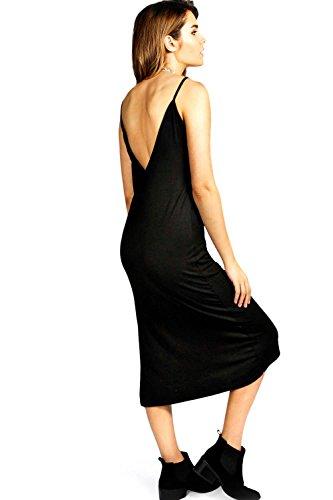 Senf Zoe Wadenlanges Kleid Mit V-ausschnitt Und Seitlichem Schlitz Senf