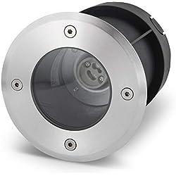 Lampe de sol à encastrer GU10Rond IP67-Acier inoxydable/verre-jusqu'à 2000kg