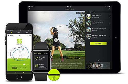 Zepp golf 2.0 3d aanlizzatore di swing per golf e simulatore di mazze da golf, ausili per l'allenamento nel golf, accessori da golf per uomo, attrezzatura da allenamento dello swing nel golf
