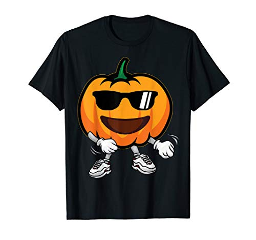 Funny Halloween Costume Pumpkin Flossing Kids Toddler Outfit T-Shirt
