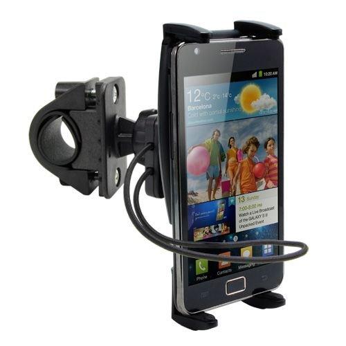 Premium Fahrradhalterung und Motorrad Handy {Universal} Halterung für Apple X XS/XS Max XR 8/8Plus 7/7 Plus Handys mit Drehgelenk und Sicherheitsgurt - Atv Akku-halterung
