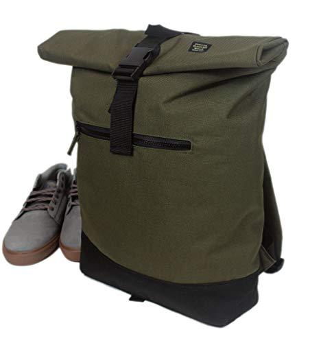 GHETTO BLASTER Roll backpack rucksack unisex daypack (oli)