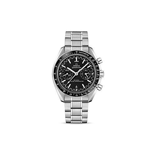 Omega Speedmaster Racing 329.30.44.51.01.001 - Reloj de pulsera para hombre, cronómetro automático, esfera negra