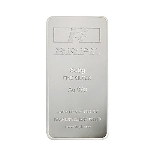 Bangalore Refinery 999 Purity Silver Bar 500 Gram