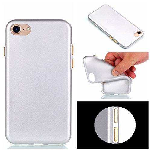 Apple iPhone 7 Plus 5.5 hülle, Voguecase Schutzhülle / Case / Cover / Hülle / TPU Gel Skin mit Nachtleuchtende Funktion (Mit Knopf-Pink) + Gratis Universal Eingabestift Mit Knopf-Silber