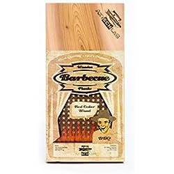 Axtschlag Räucherbretter, Western Red Cedar, 3 Grillbretter, Holz, 300 x 150 x 11 mm