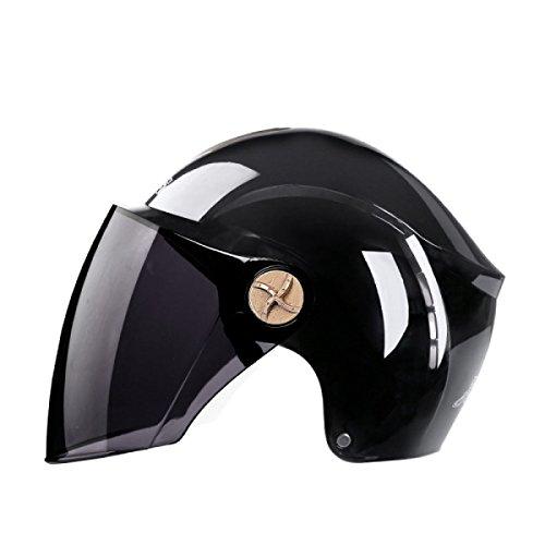Motorradhelm Halbhelm Sonnencreme Halbhelm Einzellinse,9-OneSize