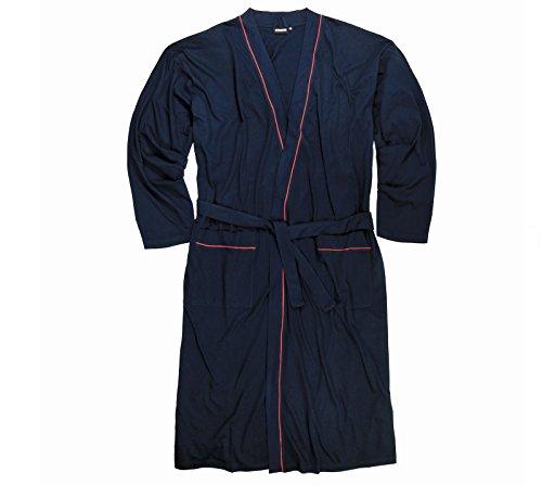 Preisvergleich Produktbild Leichter Herren Bademantel / Hausmantel in dunkelblau in großen Größen von 3XL – 10XL