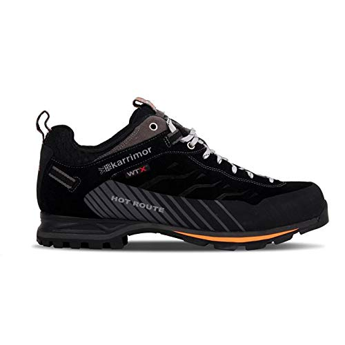 Karrimor Hombre HotRoute Wtx Zapatillas Impermeable Trekking Negro/Naranja EU 42 UK 8
