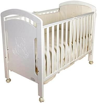 Cuna para bebé, modelo osito + Colchón Viscoelástico + Edredón y Protector de Cuna