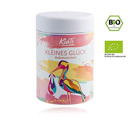 KiaTi® Kleines Glück Schwangerschaftstee für Frauen 60g / Zyklustee / BIO Qualität / Frauenmanteltee / Klapperstorchtee für die Frau / Himbeerblättertee / Mönchspfeffer Tee / Folsäure / Babywunsch