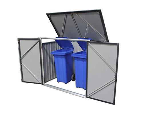 Tepro Mülltonnenbox, anthrazit / weiß, 154.2 x 96 x 130.5 cm