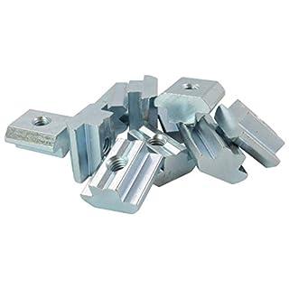 10x Nutenstein Nut 10 - Typ B - M8 mit Steg, schwer, Stahl verzinkt
