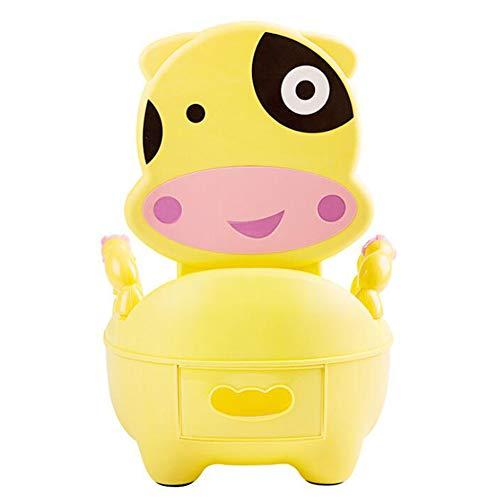YN BABY Lernspaß Töpfchen Toilettentrainer mit Griffen und ab nehmbarem Sitzaufsatz,Yellow