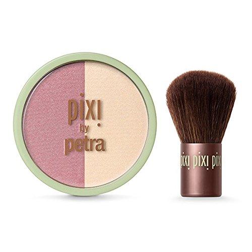 Make-up Blush Duo (Pixi Beauty Blush Duo + Kabuki ~ Rose Gold by Pixi Beauty)