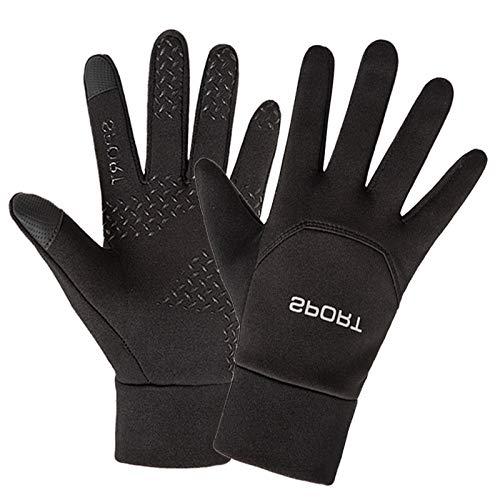 guanti nitrile spessorato Hanggg Guanti sportivi invernali da uomo più guanti in velluto antivento per esterno touch screen guanti antiscivolo impermeabili