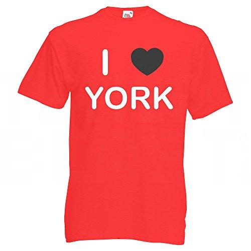I Love York - T Shirt Rot