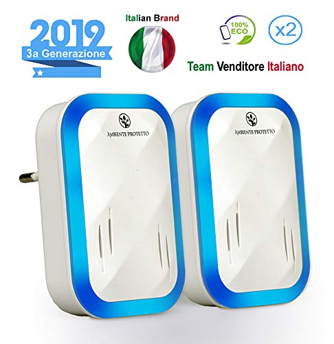 AmbienteProtetto | Antizanzare Repellente ad Ultrasuoni per Topi Insetti Professionale di 3ª...