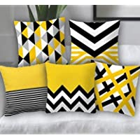 Swasiya™ Satin Printed Digital Desgin Decorative Sofa Cushion Cover Pack of 5 ( 40x40 cm or 16x16 Inch )- Set of 5…