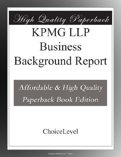 kpmg-llp-business-background-report