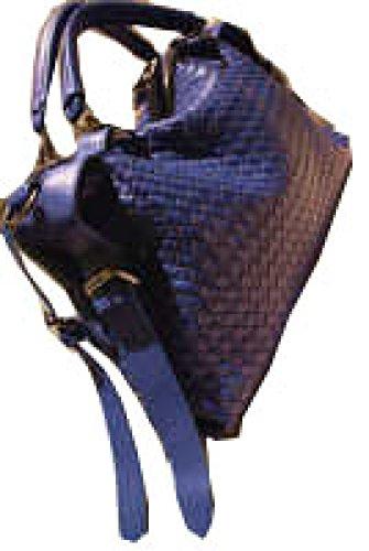 PACK Handmade Rivet Handbags Borsa Diagonale Big Shoulder Casual Spalla Fashion Big Bag,A:Blue A:Blue