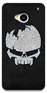 The Racoon Grip Borken Skull hard plastic printed back case / cover for HTC One 802D