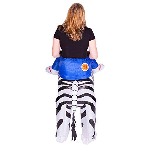 Imagen de disfraz de cebra safari hinchable para adultos alternativa