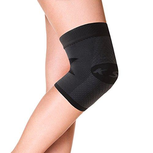 Orthosleeve rodillera compresión graduada KS7, Negro, talla S - 7 zonas de compresión - Alivia la tendinitis rotuliana - Reduce el dolor de rodilla - Reduce la inflamación