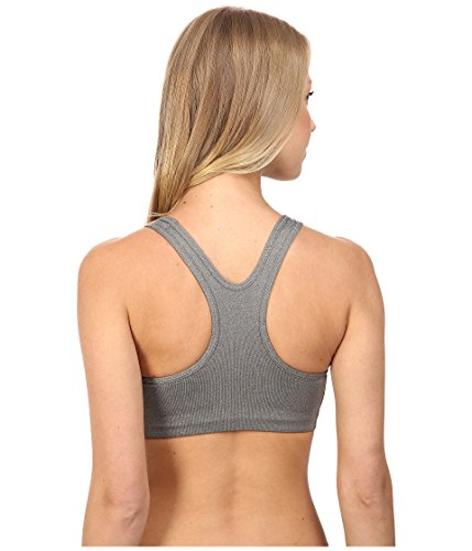 Nike W np Classic Swoosh Damen Bra Sport BH Grau (Carbon Heather / Anthracite / Black)