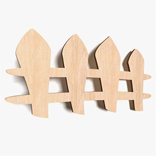 WoMa Kreativ Shop / deutschlandweit einziger Anbieter diesen Hersteller 10x Zaun Holz Basteln Bemalen Hängedeko Kinderzimmer Aufhängen Wand (W18)