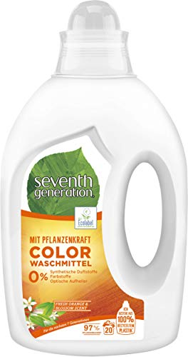 Seventh Generation Waschmittel Color Fresh Orange & Blossom Scent 20 Wäschen, 1000 ml -