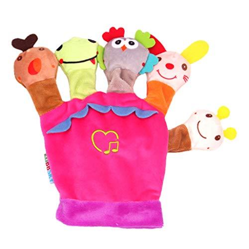 H.eternal Spielhandschuh Baby-Spielzeug mit vielen Effekten zum Fühlen, Sehen zur Stärkung der Eltern-Kind-Beziehung (Rosa)