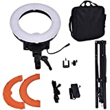Safstar 12'' LED Ring Light Flash Video Light 35W 5600K Dimmable With Stand, Plastic Color Filter Set, Carrying Case For Smartphone, Youtube, Vine Self-Portrait Video Shooting