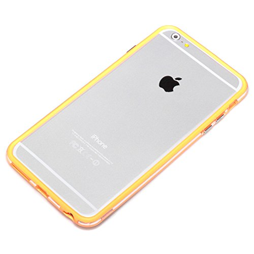 deinphone Apple iPhone 6 Plus (5.5) Coque bumper Case Orange transparent