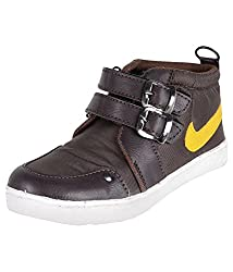 Ys Global Boys Brown Faux Leather Boots 8UK