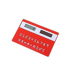 Dragonaur colore casuale ultra sottile banca di forma mini calcolatrice, Solar Powered Portable studio calcolatrice per ufficio scuola