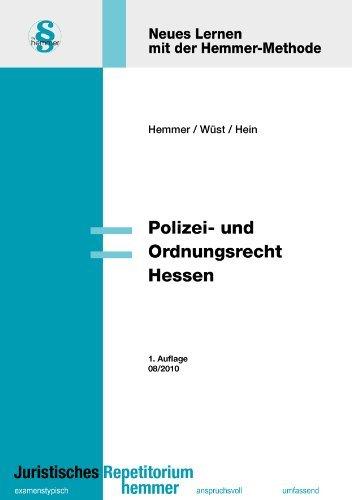 Polizei- und Ordnungsrecht Hessen (Skripten - Öffentliches Recht) by Karl E. Hemmer (2010-08-01)