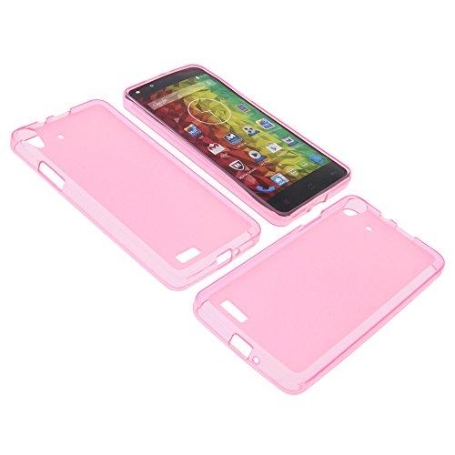 foto-kontor Tasche für MEDION Life X5001 Gummi TPU Schutz Handytasche pink
