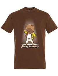 Pampling Camiseta Teddy Mercury - Freddie Mercury - Oso - 100% Algodón - Serigrafía
