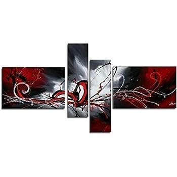 AtfArt Main surdimensionné texturé peint peinture à l'huile abstraite sur toile supérieure Décoration Cd194