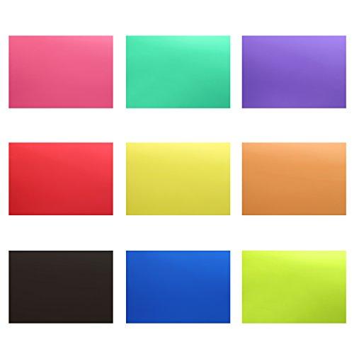 Neewer Korrektur Gel Licht Filter Transparente Farbe 30x20cm 18 Stücke mit 9 Farben: Rot Blau Rosa Cyan Lila Orange Grün Gelb Schwarz für Foto Studio Strobe Blitz LED Licht (Akzent-bühne-licht)