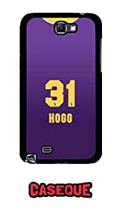 Caseque IPL Kolkata Knight Rider HOGG Jersey Back Shell Case Cover For Samsung Galaxy Note 2