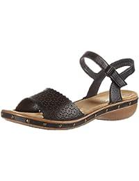 Rieker Damen 62375 Offene Sandalen mit Keilabsatz