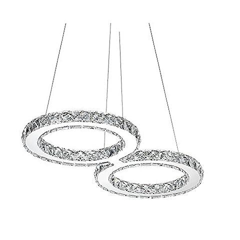 SAILUN® 32W LED Cristal Design Lampe suspendue, 8-Formulaire Pendentif lampe