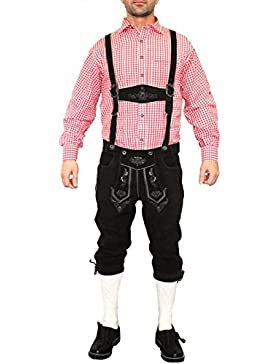 German Wear, Trachten Lederhose Kniebundhose trachtenhose Hose mit Hosenträger