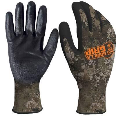 Gorilla Grip Arbeitshandschuhe mit Griff, Veil Wideand, Allzweck-Handschuhe für Angeln, Outdoor-Arbeit und Automobilarbeit