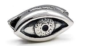 Protective Eye (Oval - Evil Eye) - Handmade in Greece. Sterling Silver 925 - Melina World Jewellery 4003