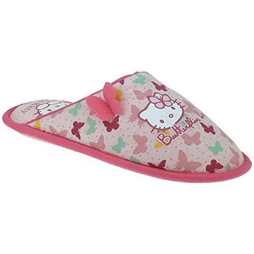 Hello Kitty HK Vedal 400690 flauschige Mädchen Hausschuhe- Gr. 28-34 Pink