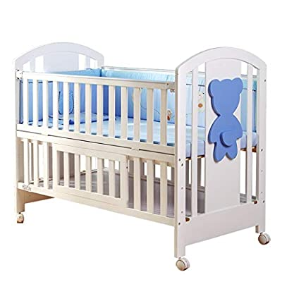 cama de cuna Cuna de bebé Cama de cuna de madera maciza Empalme multifunción Almacenamiento de cama grande
