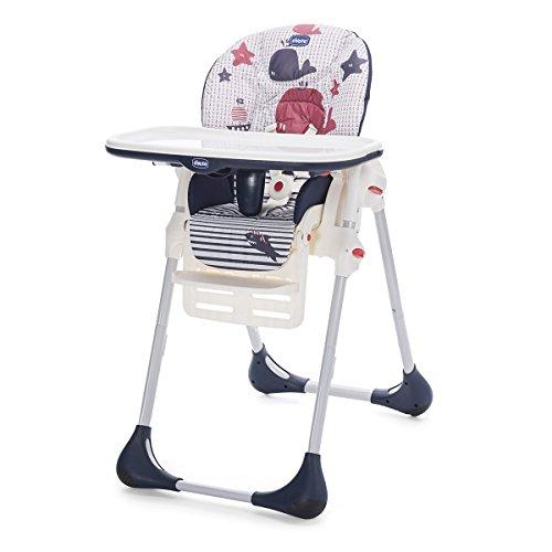 Chicco Polly Easy - Trona amplia, compacta y sencilla, para niños de 0 a 3 años, color azul marino